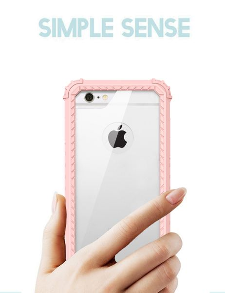 NALIA Rundum Handyhülle kompatibel mit iPhone 6 6S, Hard-Cover Vorne & Hinten Doppel-Schutz Hülle mit Silikon-Bumper, Dünnes Zweiteiliges Back-Case Handy-Tasche, Outdoor Skin Etui – Bild 10
