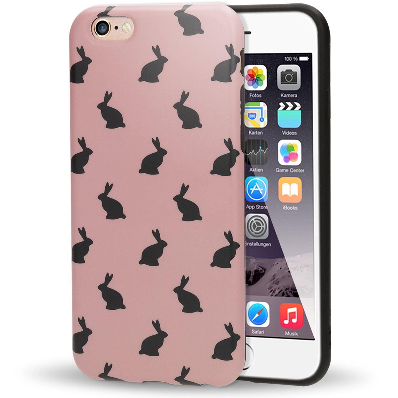 d8786e90828 NALIA Hasen Handyhülle kompatibel mit iPhone 6 6S, Ultra-Slim Hülle TPU  Silikon Bunny
