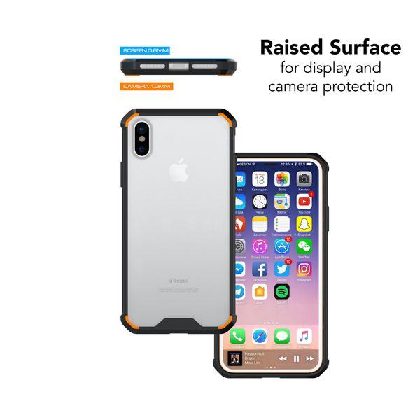 NALIA Hülle kompatibel mit iPhone X XS, Durchsichtiges Slim Hard-Case mit Transparenter Rückseite & Stoßfesten Bumper, Dünne Schutzhülle Handy-Tasche Smart-Phone Back-Cover – Bild 4