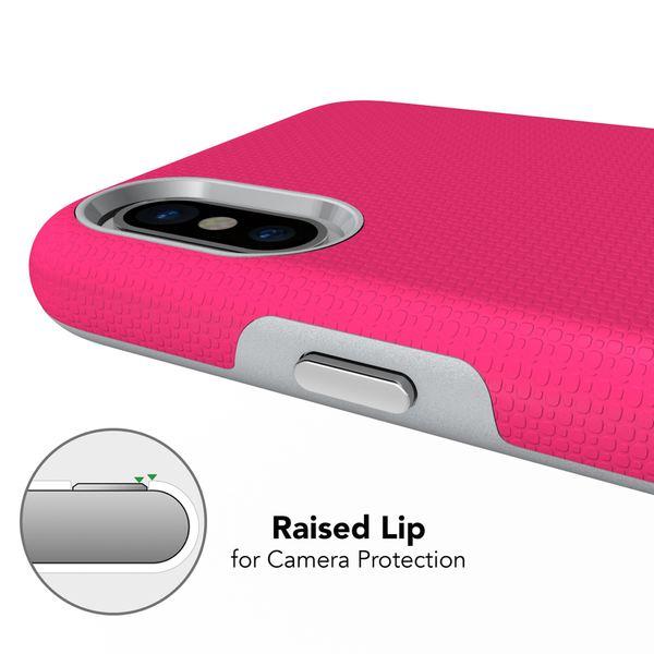 NALIA Handyhülle kompatibel mit iPhone X XS, Slim TPU Silikon Case Zweiteilig mit Hard-Cover, Dünne Sport Design Schutzhülle Etui Back-Cover, Smart-Phone Bumper Handy-Tasche – Bild 13
