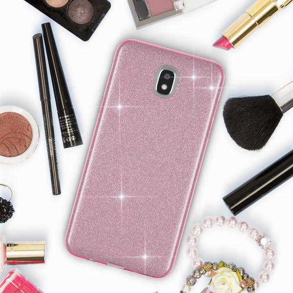 NALIA Handyhülle kompatibel mit Samsung Galaxy J3 2017 (EU-Modell), Glitzer Slim Silikon-Case Back-Cover Schutzhülle, Glitter Sparkle Bumper, Dünnes Bling Strass Smart-Phone Etui – Bild 8