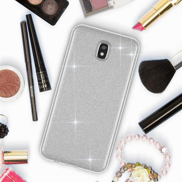 NALIA Handyhülle kompatibel mit Samsung Galaxy J3 2017 (EU-Modell), Glitzer Slim Silikon-Case Back-Cover Schutzhülle, Glitter Sparkle Bumper, Dünnes Bling Strass Smart-Phone Etui – Bild 18