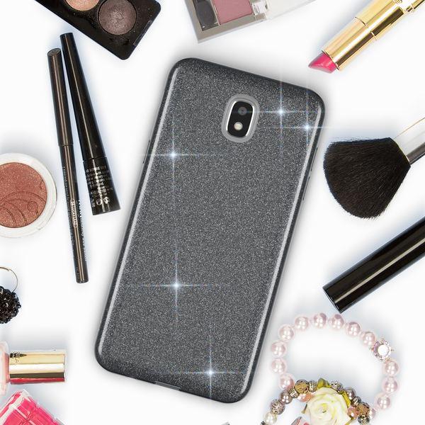 NALIA Handyhülle kompatibel mit Samsung Galaxy J5 2017 (EU-Modell), Glitzer Slim Silikon-Case Back-Cover Schutzhülle, Glitter Sparkle Bumper, Dünnes Bling Strass Smart-Phone Etui – Bild 3