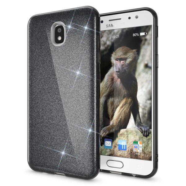 NALIA Handyhülle kompatibel mit Samsung Galaxy J7 2017 (EU-Modell), Glitzer Slim Silikon Hülle Case Backcover Cover TPU Schutzhülle, Glitter Sparkle Bumper Dünnes Strass Etui – Bild 2