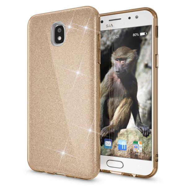 NALIA Handyhülle kompatibel mit Samsung Galaxy J7 2017 (EU-Modell), Glitzer Slim Silikon Hülle Case Backcover Cover TPU Schutzhülle, Glitter Sparkle Bumper Dünnes Strass Etui – Bild 12