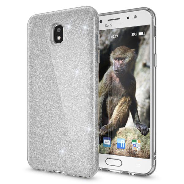 NALIA Handyhülle kompatibel mit Samsung Galaxy J7 2017 (EU-Modell), Glitzer Slim Silikon Hülle Case Backcover Cover TPU Schutzhülle, Glitter Sparkle Bumper Dünnes Strass Etui – Bild 17