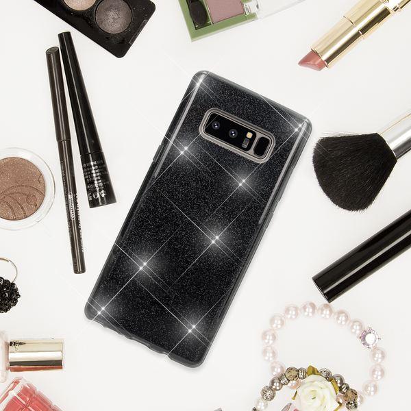 NALIA Handyhülle kompatibel mit Samsung Galaxy Note 8, Glitzer Slim Silikon Hülle Case Backcover Cover TPU Schutzhülle, Glitter Sparkle Bumper, Dünnes Smartphone Bling Strass Etui – Bild 5