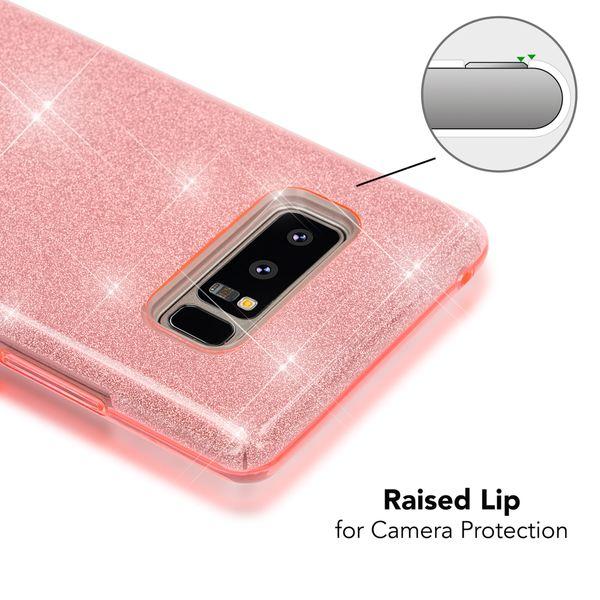 NALIA Handyhülle kompatibel mit Samsung Galaxy Note 8, Glitzer Slim Silikon Hülle Case Backcover Cover TPU Schutzhülle, Glitter Sparkle Bumper, Dünnes Smartphone Bling Strass Etui – Bild 7