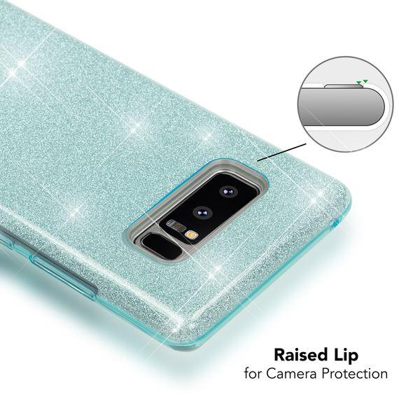 NALIA Handyhülle kompatibel mit Samsung Galaxy Note 8, Glitzer Slim Silikon Hülle Case Backcover Cover TPU Schutzhülle, Glitter Sparkle Bumper, Dünnes Smartphone Bling Strass Etui – Bild 15