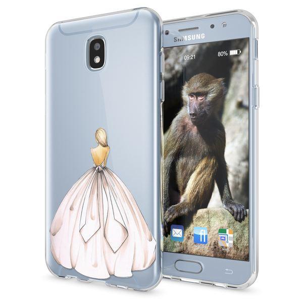 NALIA Handyhülle kompatibel mit Samsung Galaxy J7 2017 (EU-Modell), Ultra-Slim Hülle TPU Silikon Motiv Case Cover Clear  Dünn Durchsichtig, Etui  Bumper Transparent – Bild 20