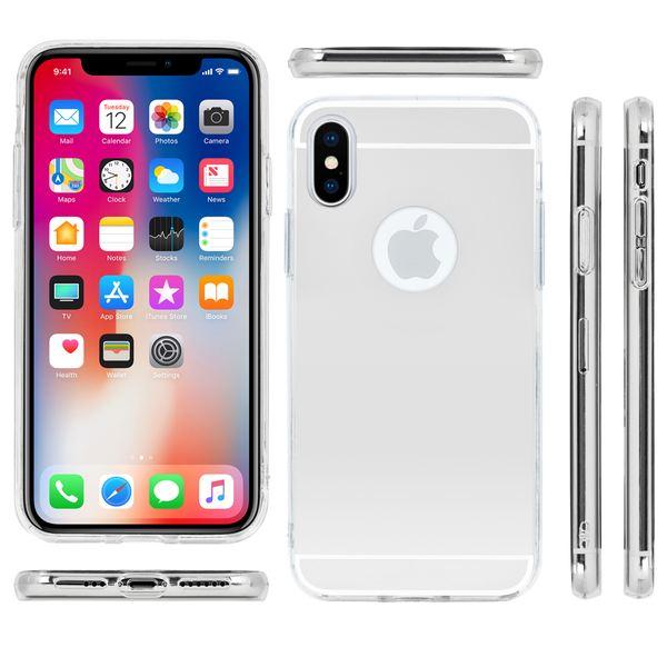 NALIA Spiegel Hülle kompatibel mit iPhone X XS, Ultra-Slim Mirror Case Handyhülle TPU Silikon Cover, Dünnes Backcover Schutzhülle verspiegelt, Handy-Tasche Bumper Phone Etui – Bild 22