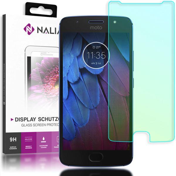 NALIA Schutzglas kompatibel mit Motorola Moto G5S, Displayschutz Hüllen-Kompatibel 9H gehärtete Glas-Schutzfolie Handy-Folie Schutz-Film, Smart-Phone HD Screen Protector Tempered Glass - Transparent – Bild 1