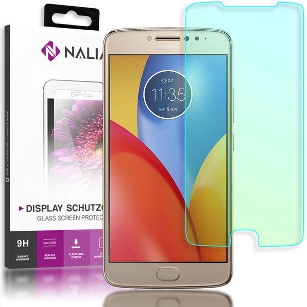 NALIA Schutzglas für MotorolaMoto E4 Plus, 2.5D Displayschutz Hüllen-Kompatibel, 9H gehärtete Glas-Schutzfolie Handy-Folie Schutz-Film Smart-Phone HD Screen Protector Tempered Glass - Transparent – Bild 1