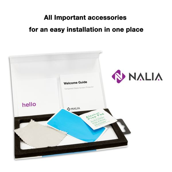 NALIA Schutzglas kompatibel mit Sony Xperia XZ1 Compact, 3D Full-Cover Displayschutz Handy-Folie, 9H Glas-Schutzfolie Bildschirm-Abdeckung, Schutz-Film HD Screen Protector - Transparent (schwarz) – Bild 7