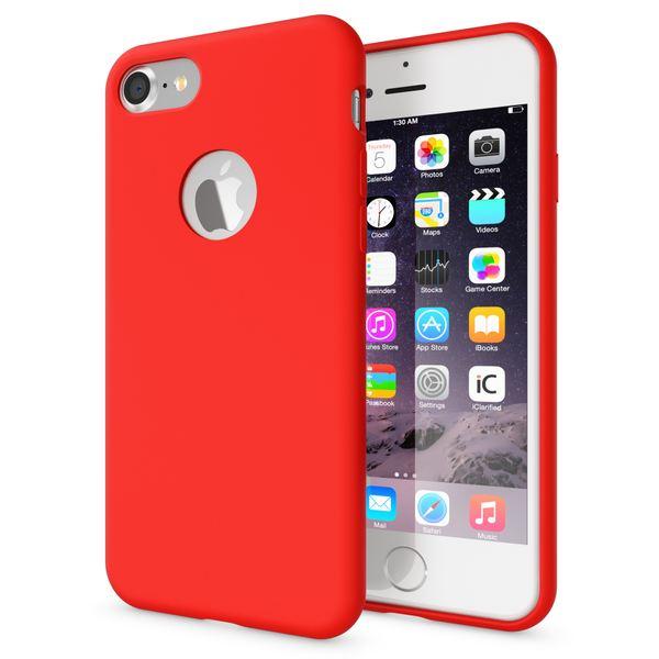 NALIA Liquid Silikon Hülle für iPhone 7, Ultra-Slim Handyhülle Hard-Case mit Silk Touch & Microfaser, Dünnes Cover Schutz Skin, Etui Handy-Tasche Back Bumper für Apple i-Phone 7  – Bild 8