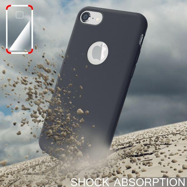iPhone 8 Liquid Silikon Hülle von NALIA, Ultra-Slim Handyhülle Hard-Case mit Silk Touch & Microfaser, Dünnes Cover Schutz Skin, Etui Handy-Tasche Back Bumper für Apple i-Phone 8  – Bild 6