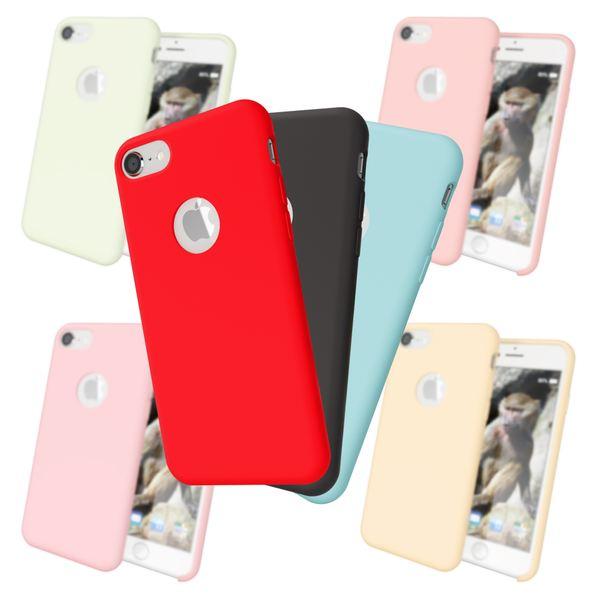 iPhone 8 Liquid Silikon Hülle von NALIA, Ultra-Slim Handyhülle Hard-Case mit Silk Touch & Microfaser, Dünnes Cover Schutz Skin, Etui Handy-Tasche Back Bumper für Apple i-Phone 8  – Bild 1
