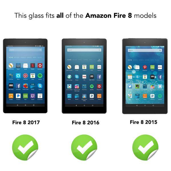 NALIA Schutzglas kompatibel mit Amazon Fire HD 8 (18 / 17 / 16 / 15), Full-Cover Displayschutz Tablet-Folie, 9H Glas-Schutzfolie Bildschirm-Abdeckung, Schutz-Film HD Screen Protector - Transparent – Bild 4