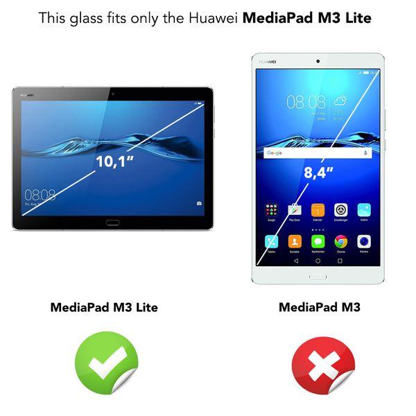 NALIA Schutzglas kompatibel mit Huawei MediaPad M3 Lite, Full-Cover Displayschutz Tablet-Folie, 9H Glas-Schutzfolie Bildschirm-Abdeckung, Schutz-Film HD Screen Protector Tempered Glass - Transparent – Bild 4