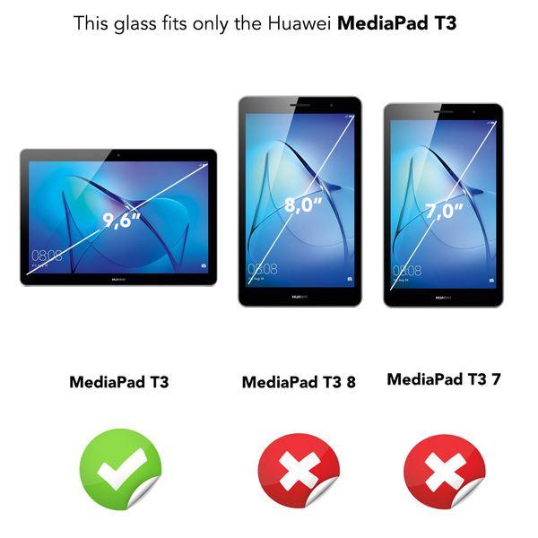 NALIA Schutzglas für Huawei MediaPad T3, Full-Cover Displayschutz Tablet-Folie, 9H gehärtete Glas-Schutzfolie Bildschirm-Abdeckung, Schutz-Film HD Screen Protector Tempered Glass - Transparent – Bild 4