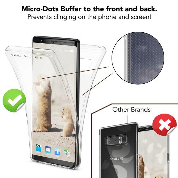 NALIA 360 Grad Handyhülle kompatibel mit Samsung Galaxy Note 8, Full Cover vorne hinten Doppel-Schutz, Dünnes Ganzkörper Case Silikon Etui Transparenter Displayschutz & Rückseite – Bild 16