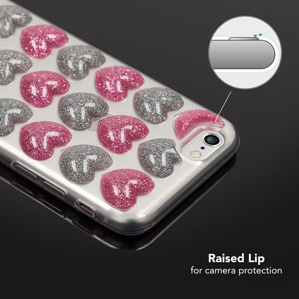 NALIA 3D Herz Hülle kompatibel mit iPhone 6 / 6S, Silikon Glitzer Handyhülle Case Schutzhülle Gummi, Soft Ultra-Slim Cover Etui Dünne Handy-Tasche, Backcover Skin Bumper – Bild 13