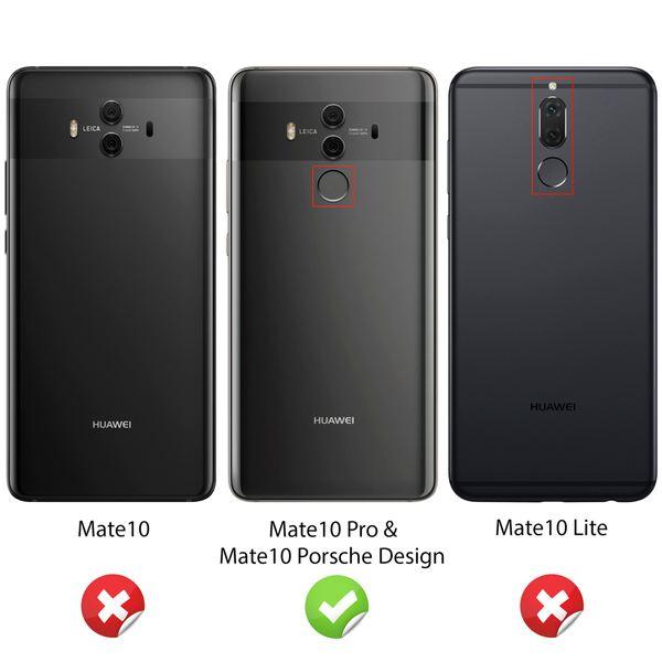 NALIA Handyhülle kompatibel mit Huawei Mate 10 Pro, Ultra-Slim Silikon Case Cover, Dünne Crystal Schutzhülle Silikonhülle Etui Handy-Tasche Backcover Hülle Bumper TPU Smartphone Gummihülle - Schwarz – Bild 4