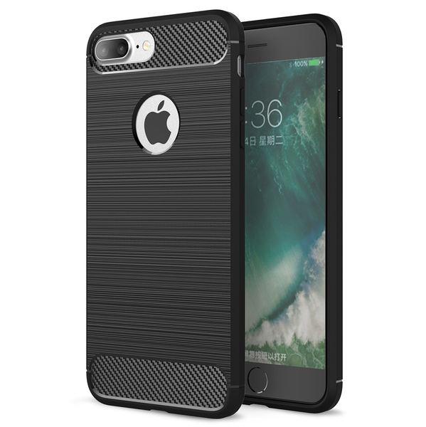 NALIA Handyhülle kompatibel mit iPhone 8 Plus / 7 Plus, Ultra-Slim Silikon Case Cover, Dünne Crystal Silikon Schutzhülle Etui Handy-Tasche Backcover Hülle Bumper, TPU Gummihülle - Schwarz – Bild 1