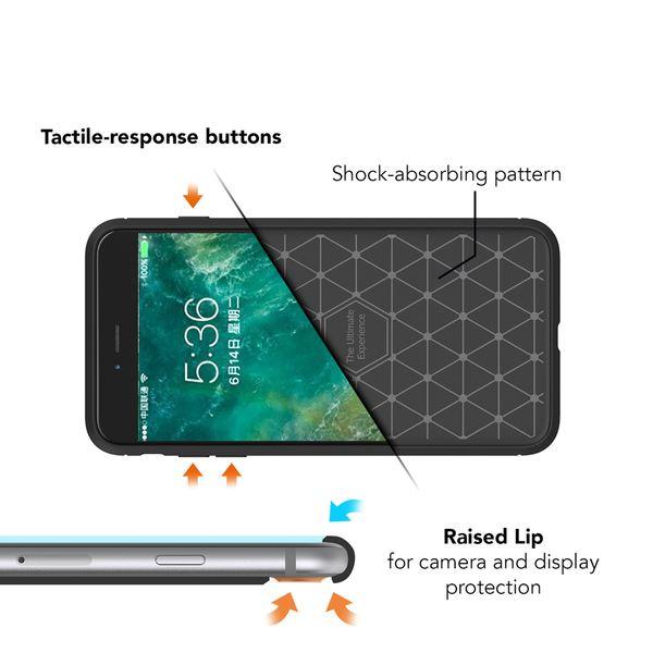 NALIA Handyhülle kompatibel mit iPhone 8 Plus / 7 Plus, Ultra-Slim Silikon Case Cover, Dünne Crystal Silikon Schutzhülle Etui Handy-Tasche Backcover Hülle Bumper, TPU Gummihülle - Schwarz – Bild 2