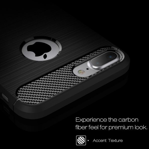 iPhone 8 Plus / 7 Plus Hülle Handyhülle von NALIA, Ultra Slim Silikon Case Cover, Dünne Crystal Silikon Schutzhülle Etui Handy-Tasche Back Bumper, TPU Gummihülle für Apple i-Phone 8+ / 7+ - Schwarz – Bild 5