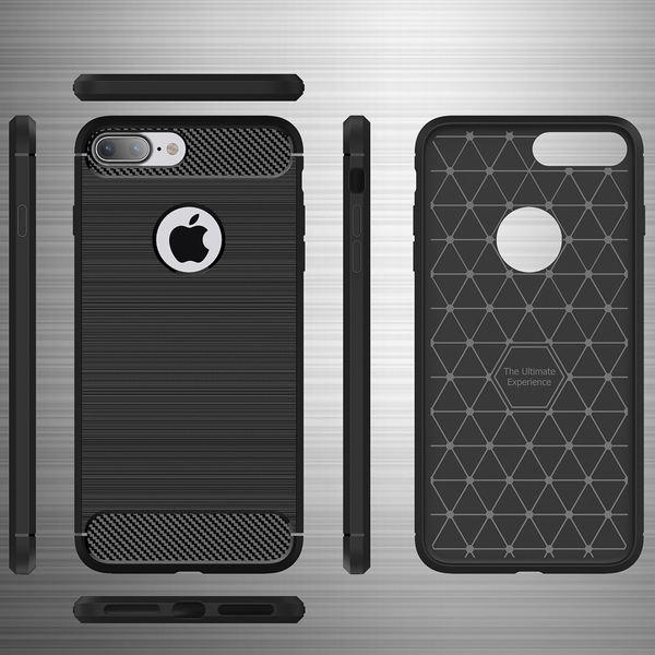 iPhone 8 Plus / 7 Plus Hülle Handyhülle von NALIA, Ultra Slim Silikon Case Cover, Dünne Crystal Silikon Schutzhülle Etui Handy-Tasche Back Bumper, TPU Gummihülle für Apple i-Phone 8+ / 7+ - Schwarz – Bild 4