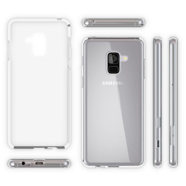 NALIA Handyhülle kompatibel mit Samsung Galaxy A8 2018, Ultra-Slim TPU Silikon Case Cover Crystal Clear Schutzhülle Dünn Durchsichtig, Backcover Hülle Etui Handy-Tasche Transparent, Phone Bumper – Bild 6