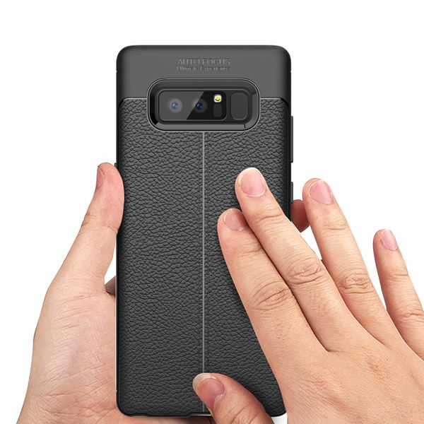 NALIA Leder-Look Hülle kompatibel mit Samsung Galaxy Note 8, Ultra-Slim Silikon Case Cover, Dünne Phone Handyhülle Schutzhülle, Etui Handy-Tasche Backcover Bumper, TPU Gummihülle - Schwarz – Bild 6