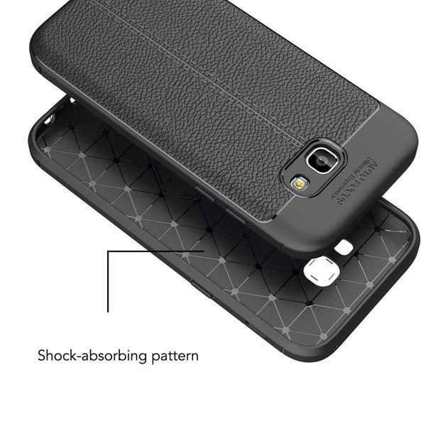 NALIA Hülle Leder-Look kompatibel mit Samsung Galaxy A5 2017, Handyhülle Ultra Slim Silikon Case, Dünne Phone Schutzhülle, Handy-Tasche Back-Cover Bumper, TPU Gummihülle - Schwarz – Bild 6