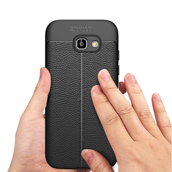 NALIA Hülle Leder-Look kompatibel mit Samsung Galaxy A5 2017, Handyhülle Ultra Slim Silikon Case, Dünne Phone Schutzhülle, Handy-Tasche Back-Cover Bumper, TPU Gummihülle - Schwarz – Bild 7