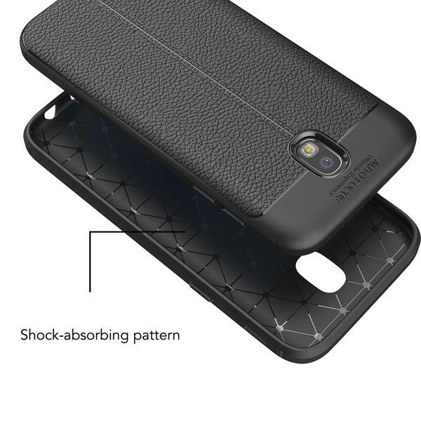 NALIA Leder-Look Hülle kompatibel mit Samsung Galaxy J5 2017, Ultra-Slim Silikon Case Cover, Dünne Phone Handyhülle Schutzhülle, Etui Handy-Tasche Backcover Bumper, TPU Gummihülle - Schwarz – Bild 6