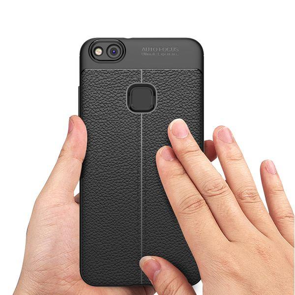 NALIA Leder-Look Handyhülle für Huawei P10 Lite, Ultra Slim Silikon Case Cover, Dünne Smart-Phone Schutzhülle, Etui Handy-Tasche Back-Cover Bumper, TPU Gummihülle für P10-Lite - Schwarz – Bild 7