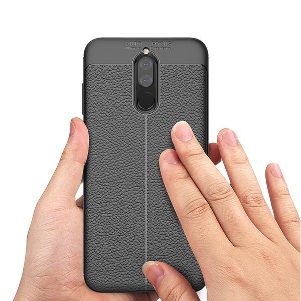 NALIA Leder-Look Handyhülle für Huawei Mate 10 Lite, Ultra Slim Silikon Case Cover, Dünne Smart-Phone Schutzhülle, Etui Handy-Tasche Back-Cover Bumper, TPU Gummihülle für Mate-10 Lite - Schwarz – Bild 7