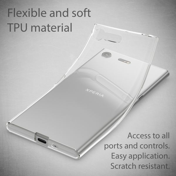 NALIA Handyhülle kompatibel mit Sony Xperia XZ Premium, Ultra-Slim TPU Silikon Case Cover Crystal Clear Schutzhülle Dünn Durchsichtig, Backcover Hülle Etui Handy-Tasche Transparent, Phone Bumper – Bild 3