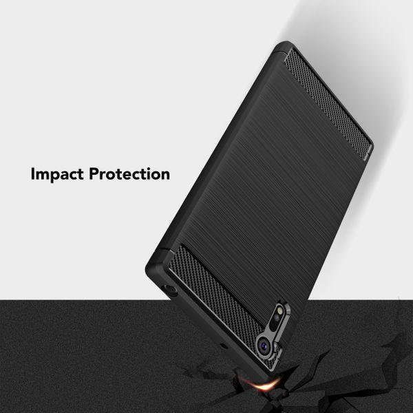 NALIA Handyhülle kompatibel mit Sony Xperia XZ, Ultra-Slim Silikon Case Cover Dünne Hülle Crystal Phone Schutzhülle, Etui Handy-Tasche Backcover Bumper, TPU Smartphone Gummihülle - Schwarz – Bild 6