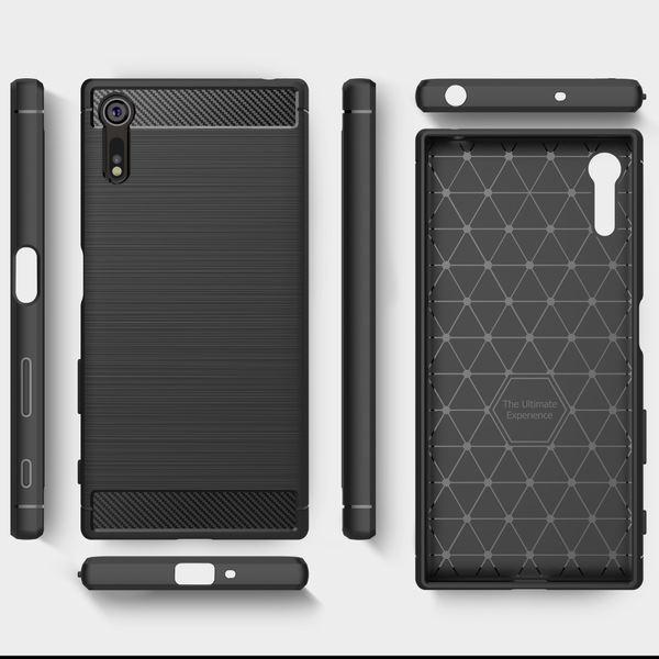 NALIA Handyhülle kompatibel mit Sony Xperia XZ, Ultra-Slim Silikon Case Cover Dünne Hülle Crystal Phone Schutzhülle, Etui Handy-Tasche Backcover Bumper, TPU Smartphone Gummihülle - Schwarz – Bild 7