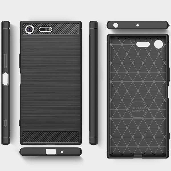 NALIA Handyhülle kompatibel mit Sony Xperia XZ Premium, Ultra-Slim Silikon Case Cover Dünne Hülle Crystal Phone Schutzhülle, Etui Handy-Tasche Backcover Bumper, TPU Smartphone Gummihülle - Schwarz – Bild 7