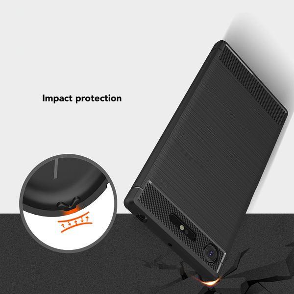NALIA Handyhülle kompatibel mit Sony Xperia XZ1, Ultra-Slim Silikon Case Cover Dünne Hülle Crystal Phone Schutzhülle, Etui Handy-Tasche Backcover Bumper, TPU Smartphone Gummihülle - Schwarz – Bild 6