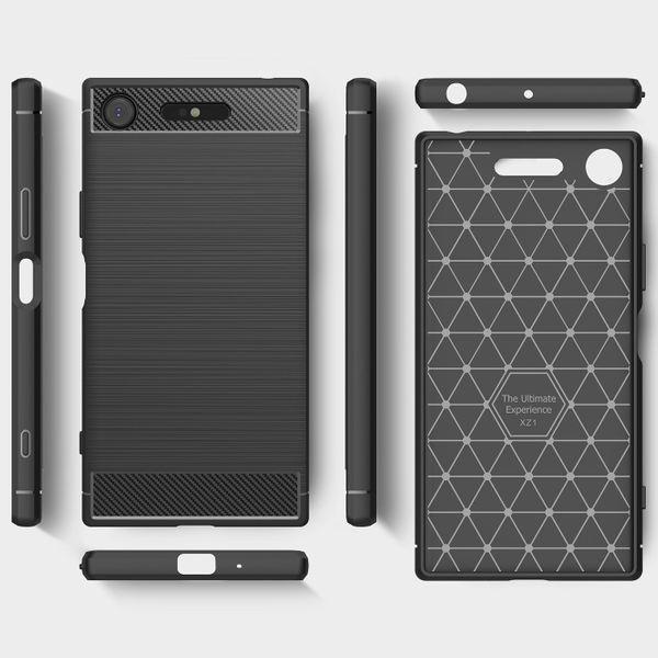 NALIA Handyhülle kompatibel mit Sony Xperia XZ1, Ultra-Slim Silikon Case Cover Dünne Hülle Crystal Phone Schutzhülle, Etui Handy-Tasche Backcover Bumper, TPU Smartphone Gummihülle - Schwarz – Bild 7