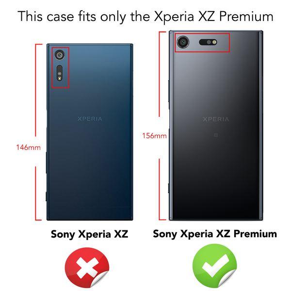NALIA Leder-Look Hülle kompatibel mit Sony Xperia XZ Premium, Ultra-Slim Silikon Case Cover Dünne Phone Schutzhülle, Etui Handyhülle Handy-Tasche Backcover Bumper, TPU Smartphone Gummihülle - Schwarz – Bild 4