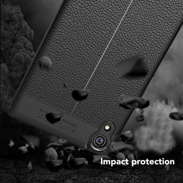 NALIA Leder-Look Hülle kompatibel mit Sony Xperia XA1, Ultra-Slim Silikon Case Cover, Dünne Phone Schutzhülle, Etui Handyhülle Handy-Tasche Backcover Bumper, TPU Smartphone Gummihülle - Schwarz – Bild 5