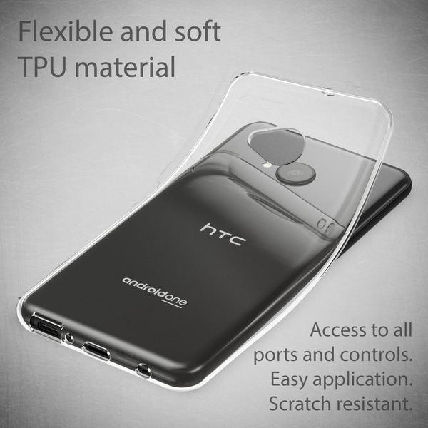 HTC U11 Life Hülle Handyhülle von NALIA, Soft Slim TPU Silikon Case Cover Crystal Clear Schutz-Hülle Dünn Durchsichtig, Etui Handy-Tasche Backcover Transparent, Smart-Phone Bumper für HTC U11-Life – Bild 2
