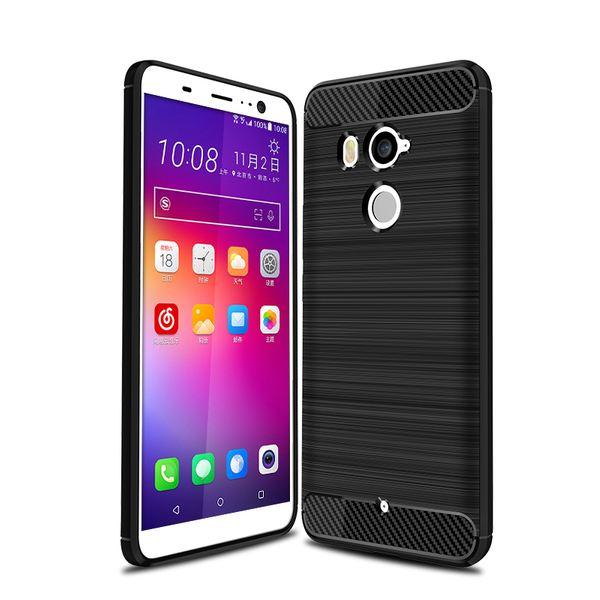 NALIA Handyhülle kompatibel mit HTC U11 Plus, Ultra-Slim Silikon Case Cover, Dünne Crystal Phone Schutzhülle, Etui Hülle Handy-Tasche Backcover Bumper, TPU Smartphone Gummihülle - Schwarz – Bild 1