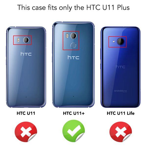 NALIA Handyhülle kompatibel mit HTC U11 Plus, Ultra-Slim Silikon Case Cover, Dünne Crystal Phone Schutzhülle, Etui Hülle Handy-Tasche Backcover Bumper, TPU Smartphone Gummihülle - Schwarz – Bild 4