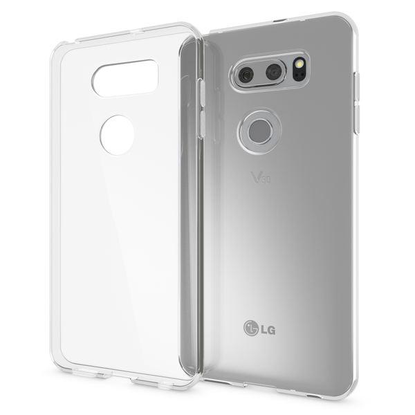 NALIA Handyhülle kompatibel mit LG V30, Ultra-Slim TPU Silikon Case Cover Crystal Clear Schutzhülle Dünn Durchsichtig, Etui Hülle Handy-Tasche Backcover Transparent, Smart-Phone Schutz Bumper – Bild 1